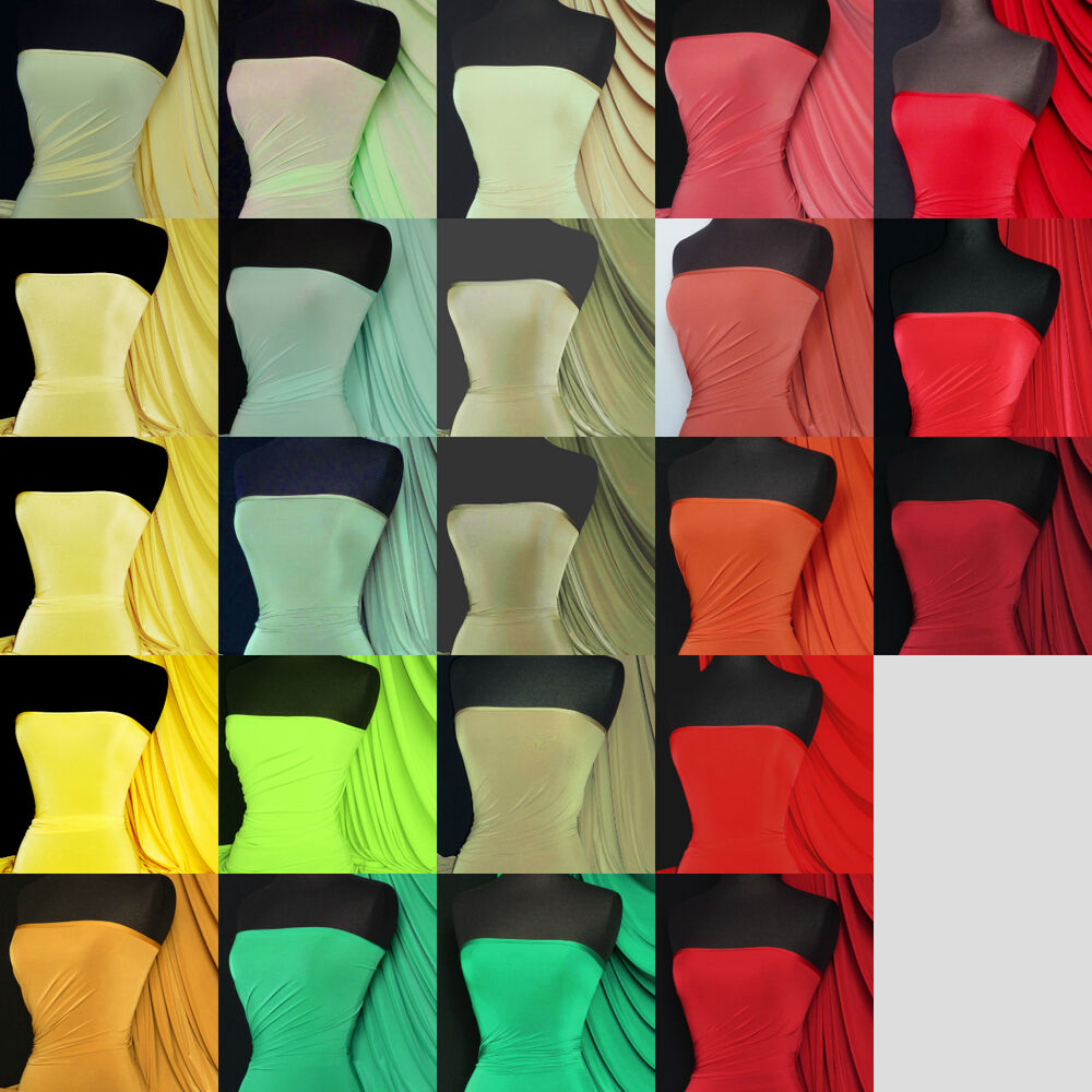 Silk touch 4 way stretch jersey lycra fabric material q53 for Lycra fabric