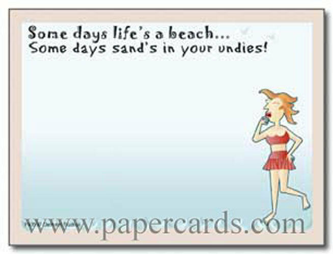 Life's A Beach Funny Sticky Notes Post It Note Pad by Oatmeal Studios