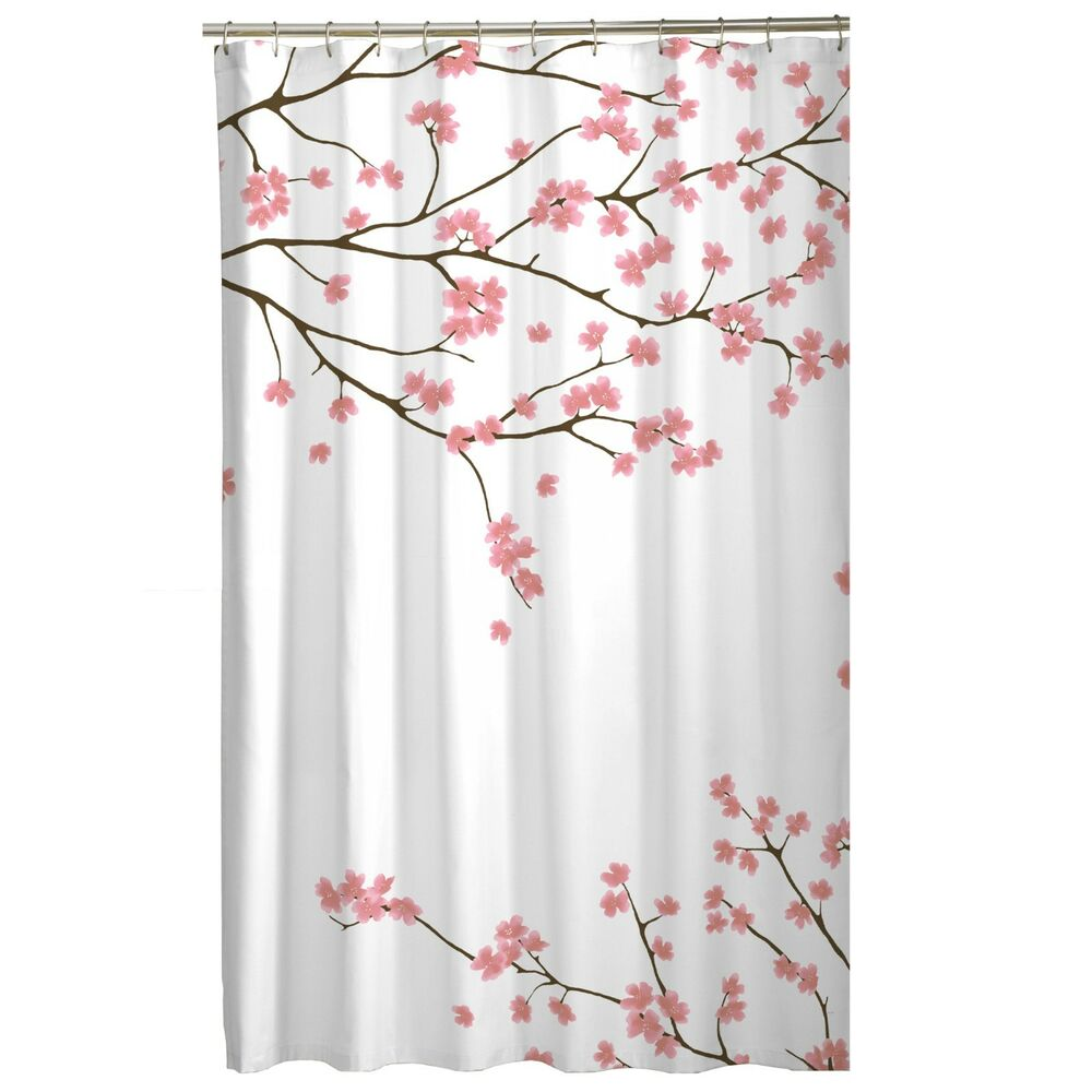 Pink Floral Asian Cherry Blossom Sakura Flowers Fabric
