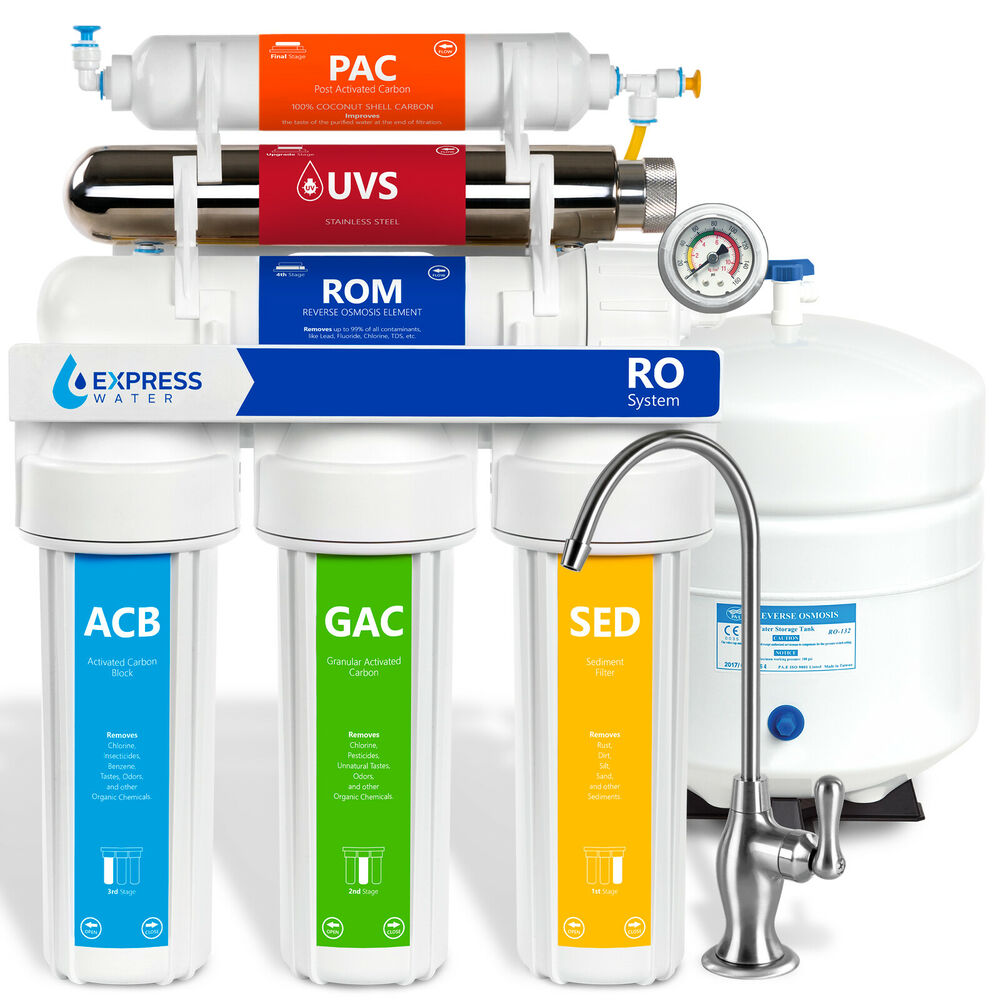 Ultraviolet Reverse Osmosis Water Filtration System Ro