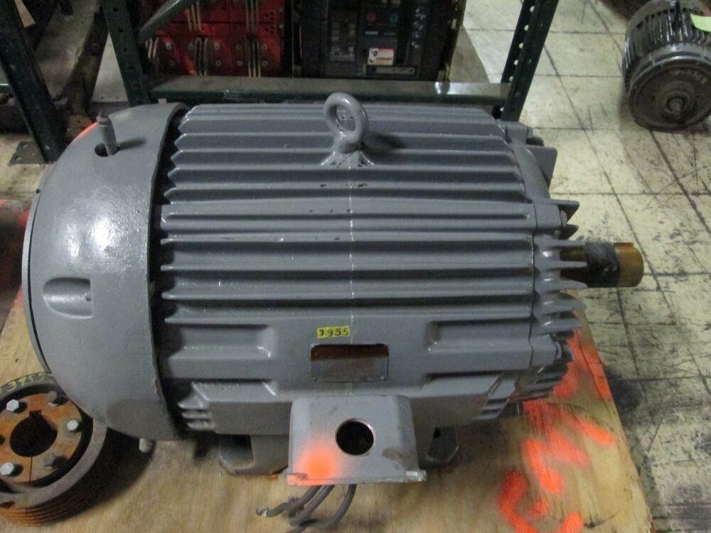 Allis chalmers motor rgz 100hp 405t frame 1770rpm 460v 113 for Allis chalmers electric motor