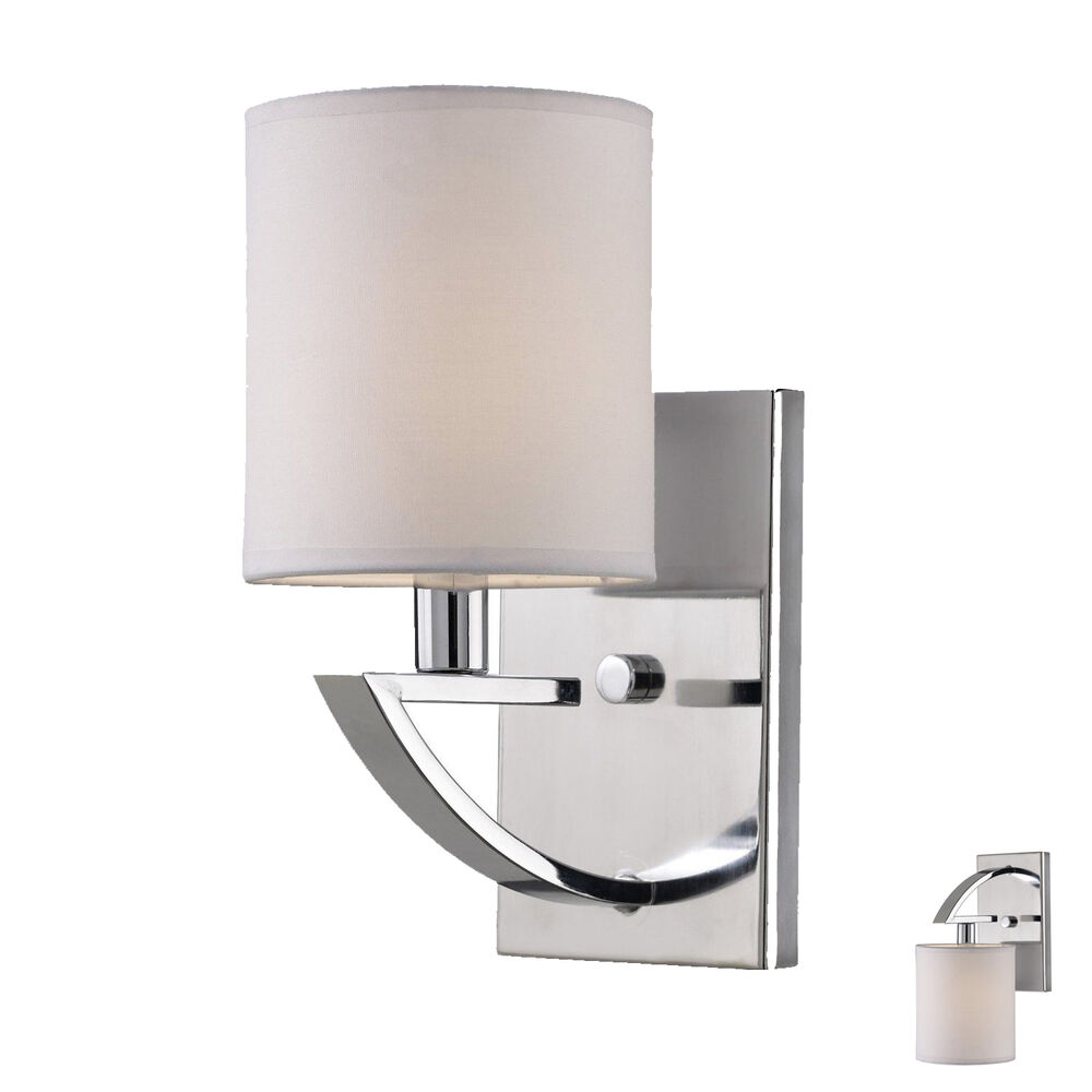 Wall Sconce Light Fixture Interior Lighting Fixture, Chrome eBay