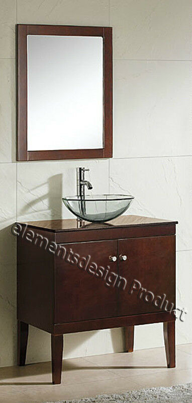 "Ebay Bathroom Vanity With Sink: 30"" Bathroom Vanity Cabinet Black Grainte Top Vessel Sink"
