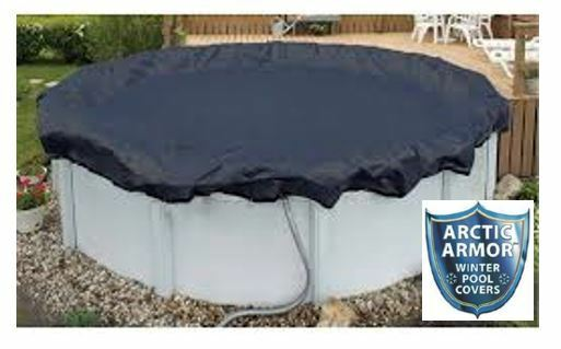 Arctic armor above ground swimming pool winter covers for Above ground pool winter cover ideas