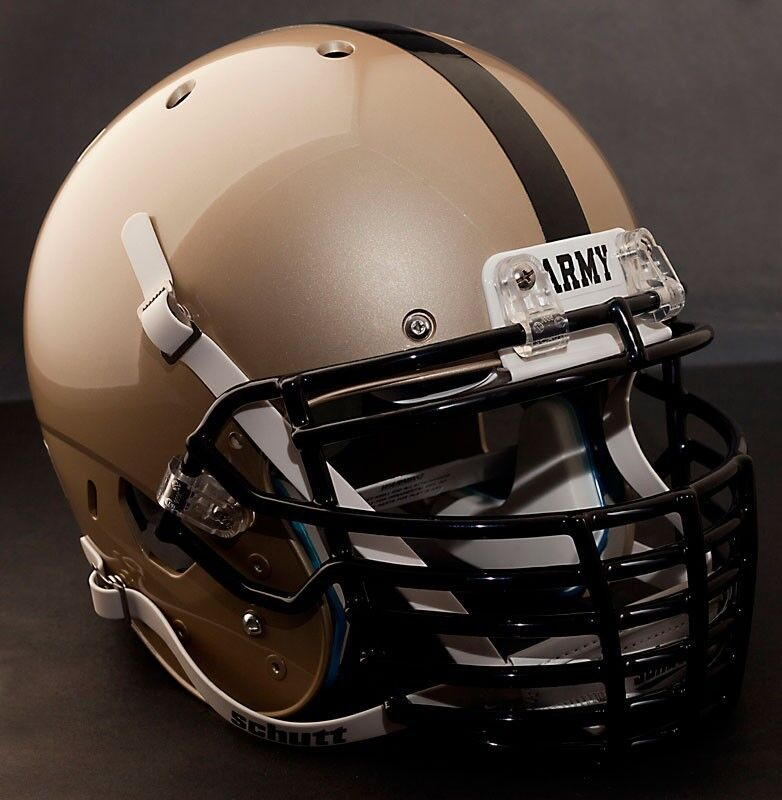 Football Helmet Grill : Custom army black knights schutt air xp replica football