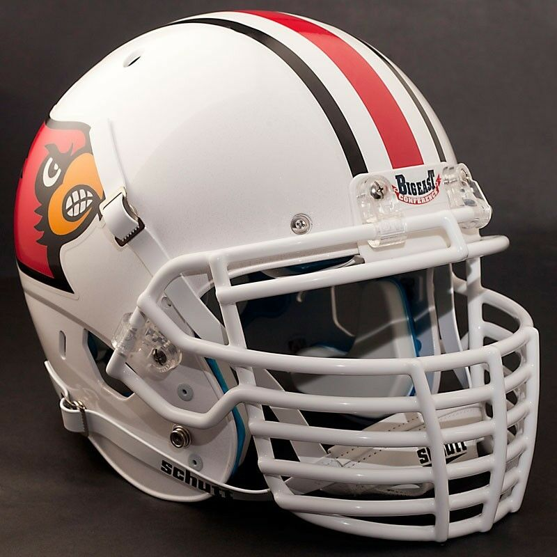 Football Helmet Grill : Custom louisville cardinals schutt air xp replica