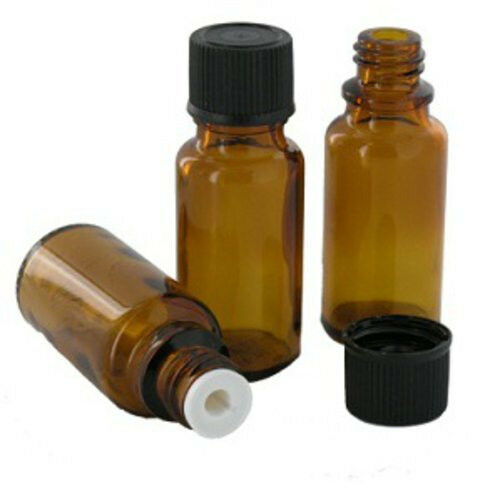 New 1 50pcs 15ml 1 2oz Amber Brown Glass Bottle W Euro