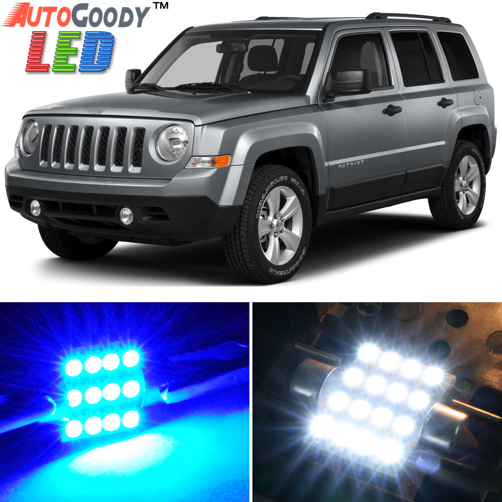 8 x premium blue led lights interior package upgrade for - 2016 jeep compass interior lights ...