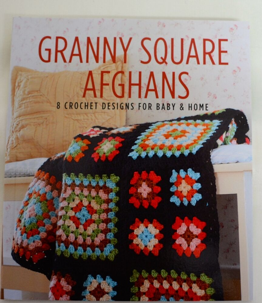 Book Cover Crochet S : Crochet pattern book granny square afghans
