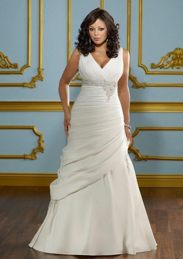 Hot plus size satin bridal gown wedding dress custom size for Wedding dresses size 18 plus