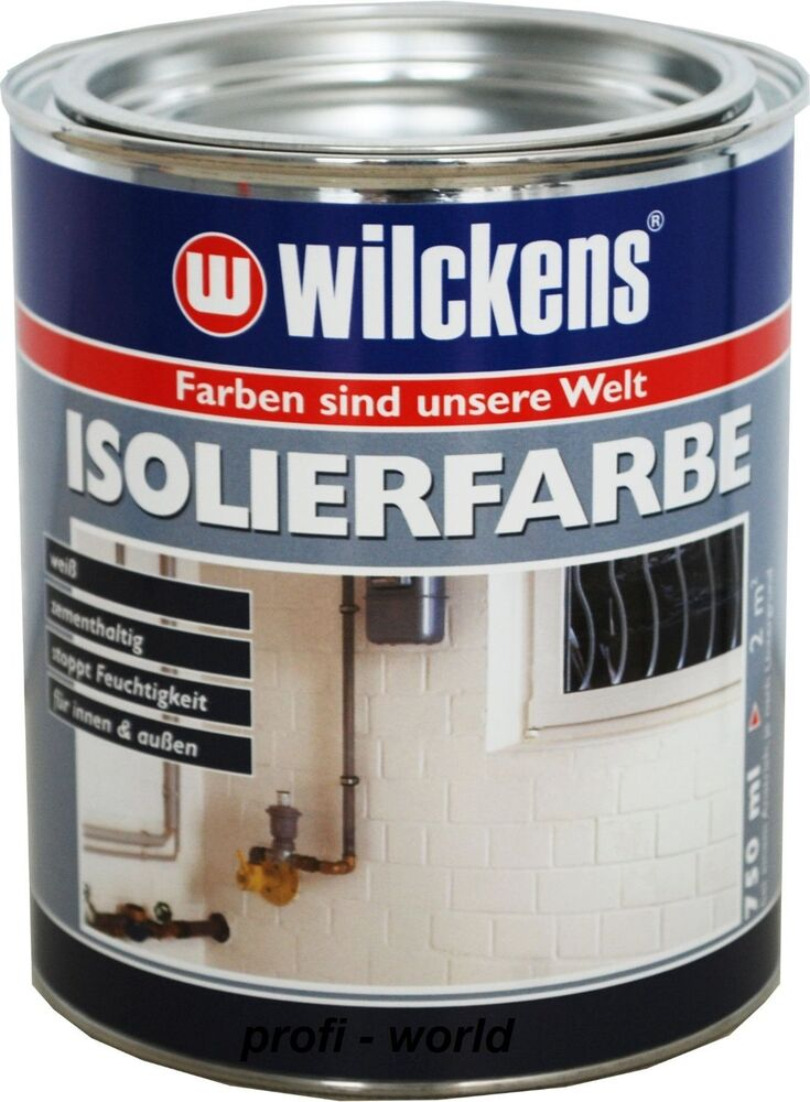 wilckens isolierfarbe gegen feuchtigkeit nikotin ru flecken salzausbl hung 750ml ebay. Black Bedroom Furniture Sets. Home Design Ideas