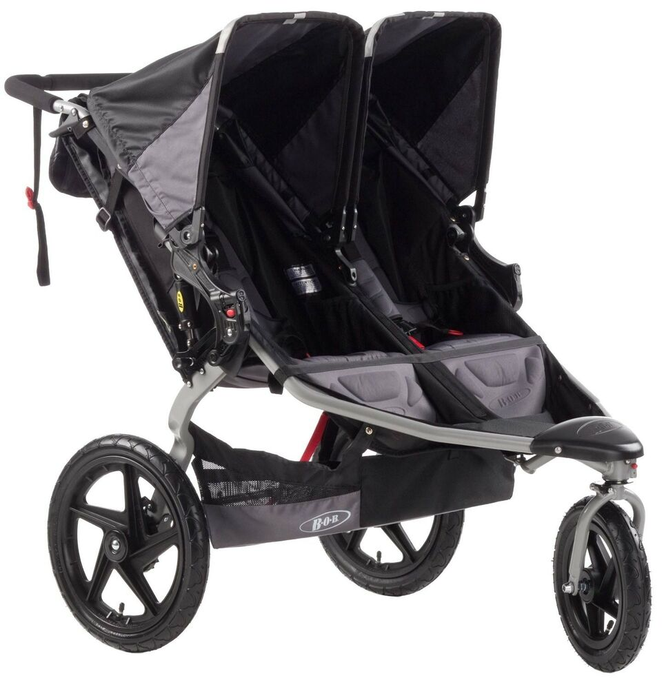 Bob 2014 Revolution Duallie Double Stroller, Black ST1043 ...