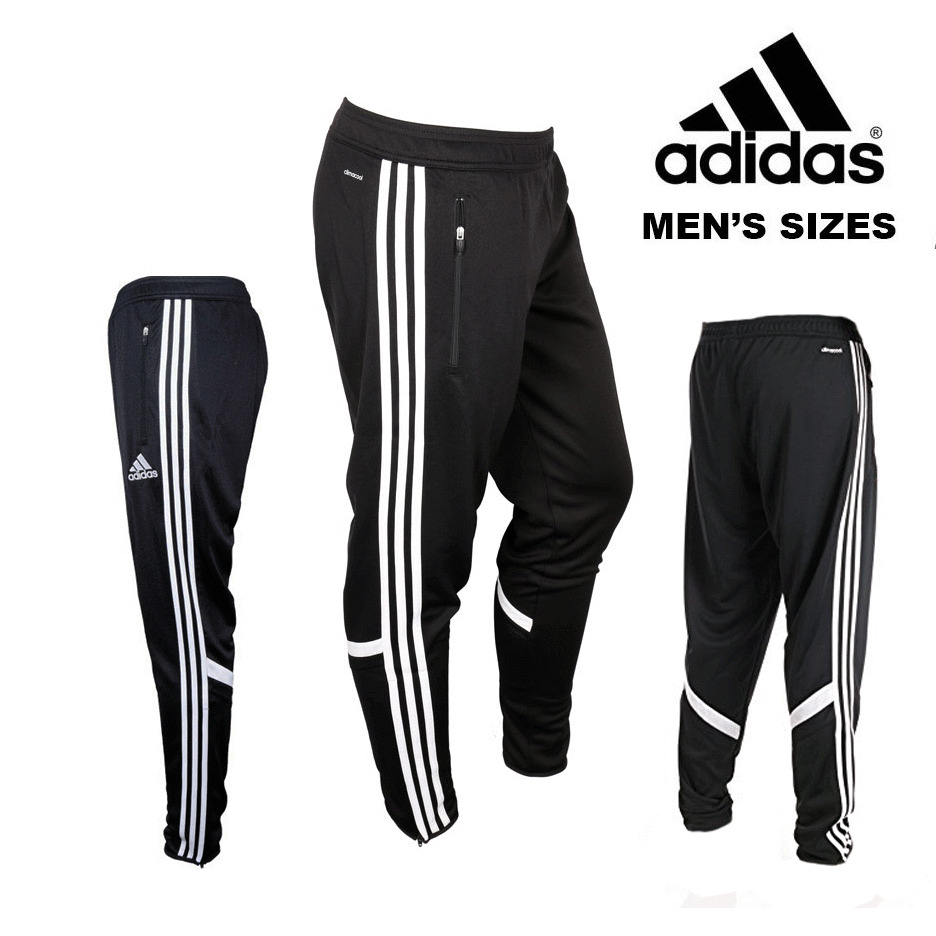 New men s adidas cono 14 training pants black white sz s xl