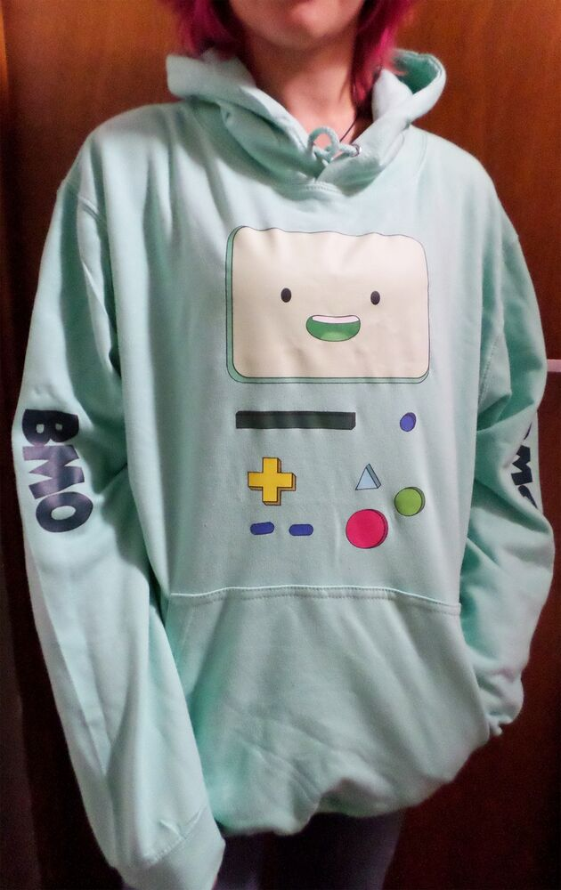 Bmo Beemo Adventure Time Men S Hoodie Sizes S Xxl Ebay