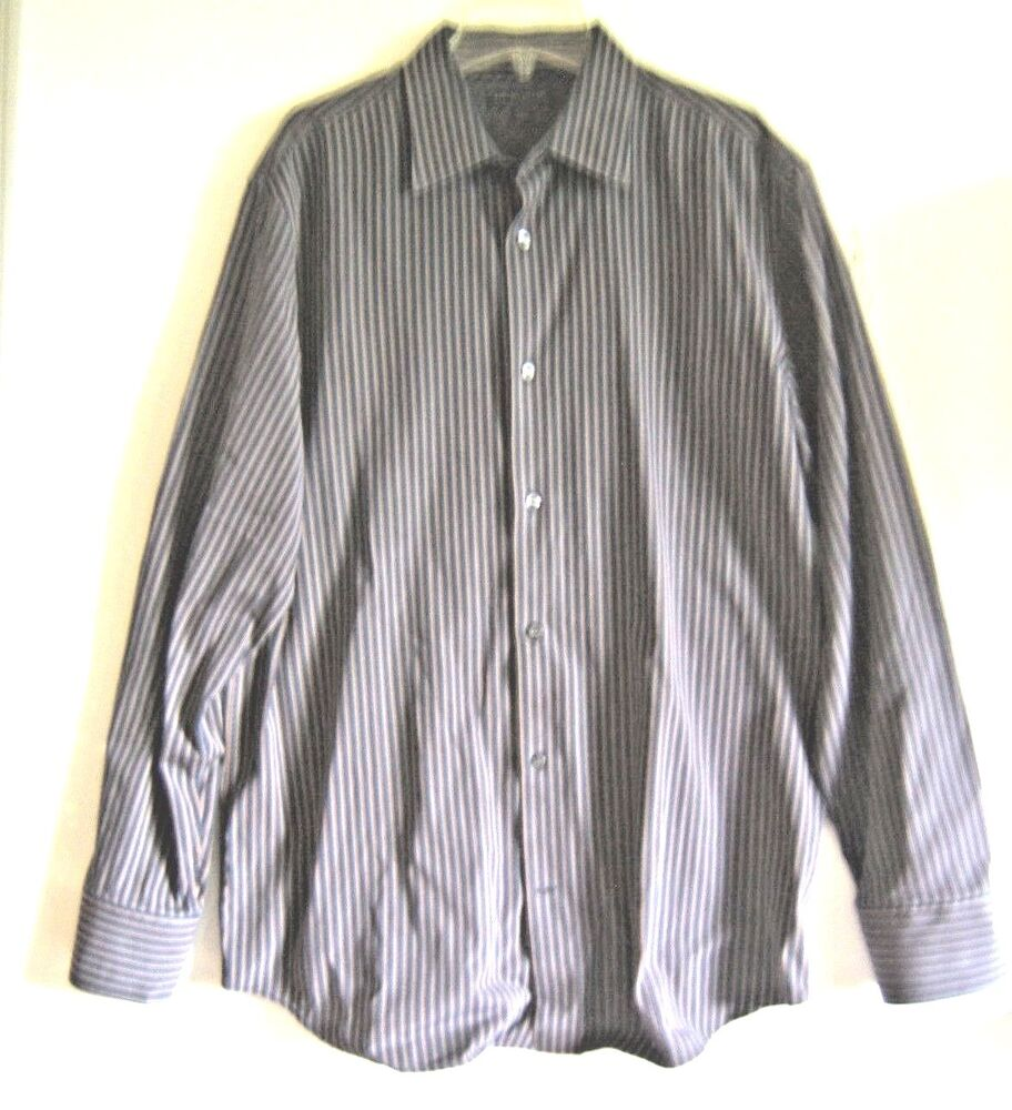 banana republic size 16 16 1 2 blue brown white striped