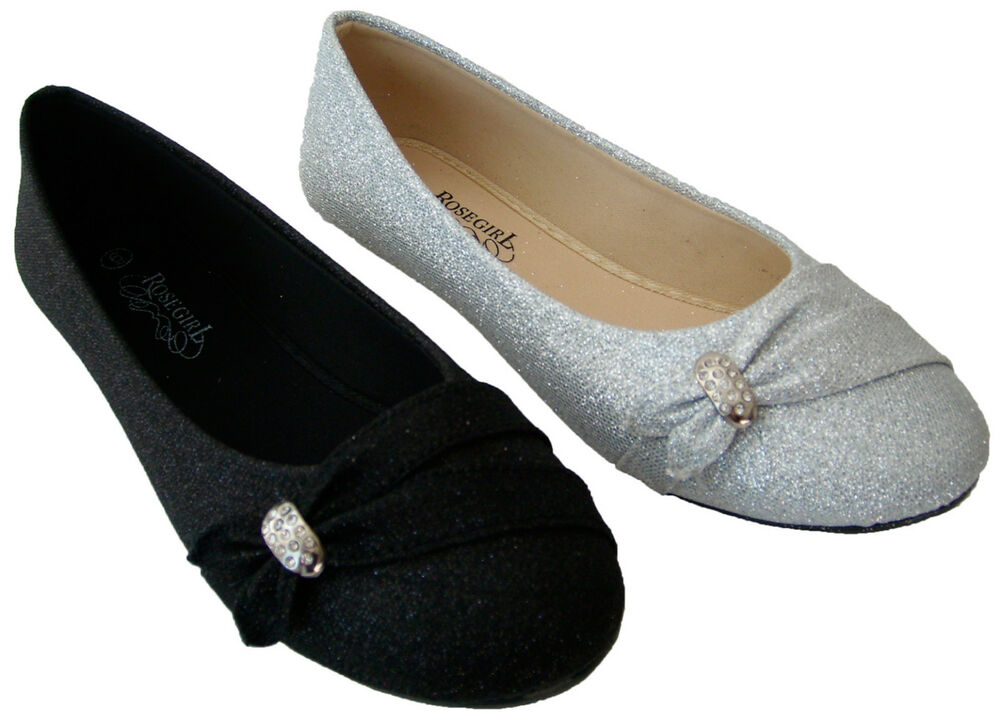 NEW Women Glitter Ballet Flat Slip-On Casual Shoe Size 5.5 ...