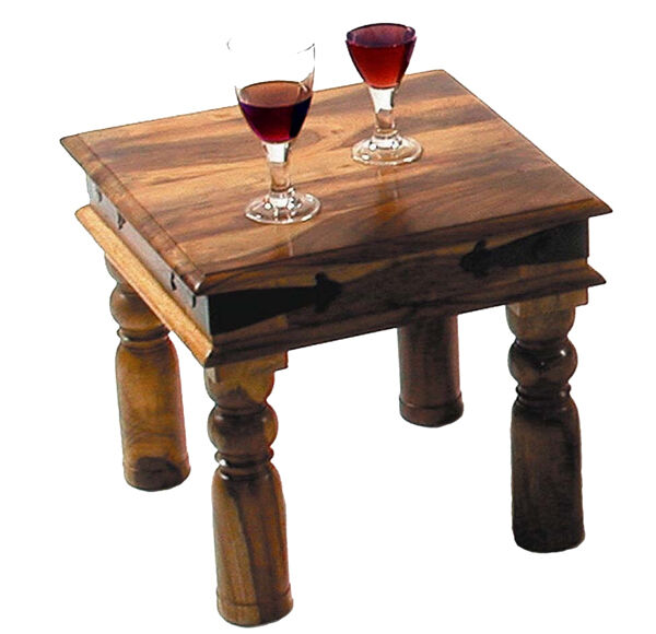 Indian Solid Sheesham Wood -Small Square- Coffee Table