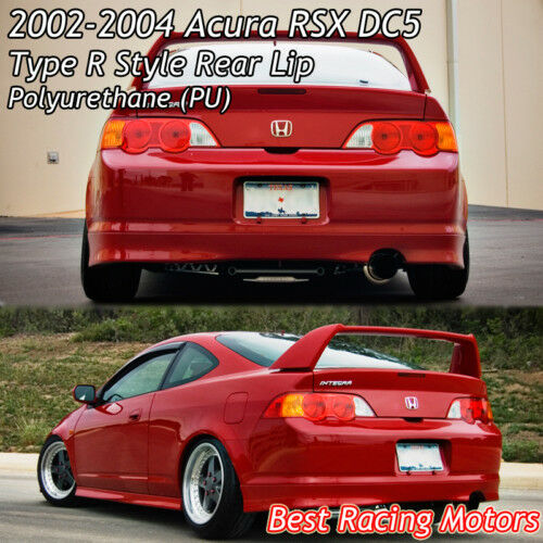 TR Style Rear Lip (Urethane) Fits 02-04 Acura RSX 2dr