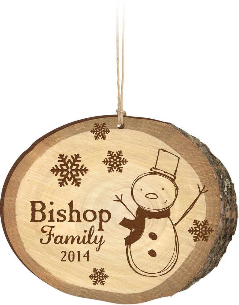 personalized laser engraved christmas ornament birch