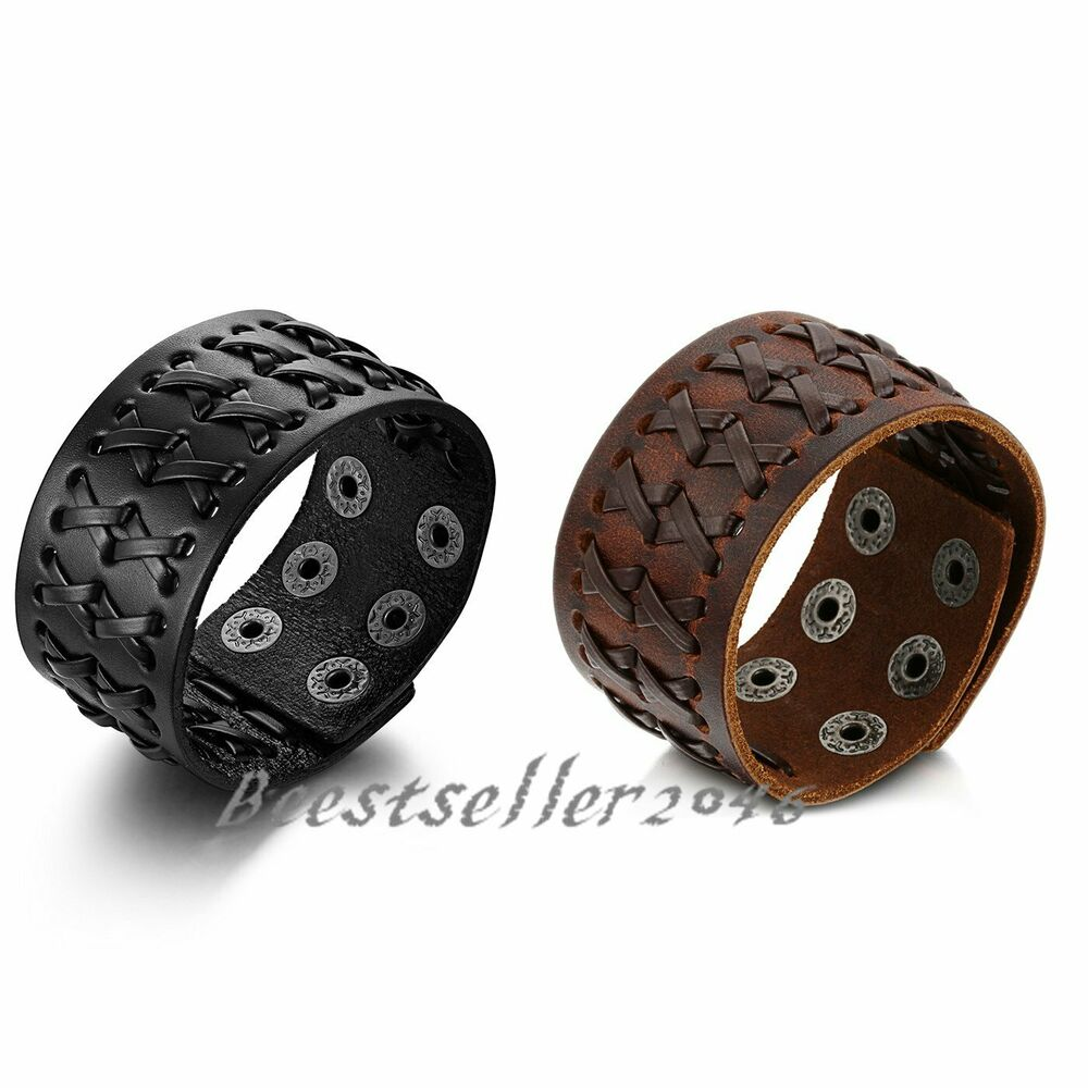 Mens Leather Ring