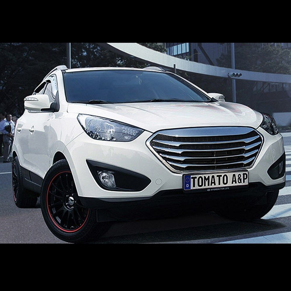 chrome type front hood radiator grill for hyundai tucson. Black Bedroom Furniture Sets. Home Design Ideas