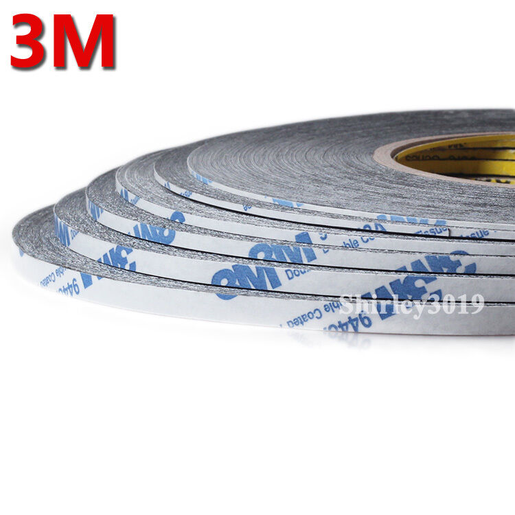 3m 9448 Black Adhesive Sticker Glue Double Sided Tape 1mm