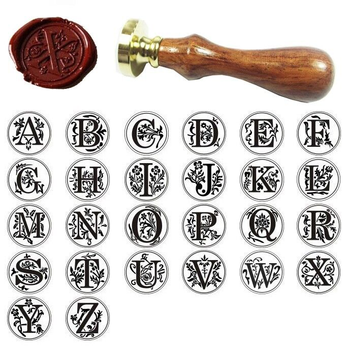 Classic alphabet initial sealing wax seal stamp for Letter seal stamp