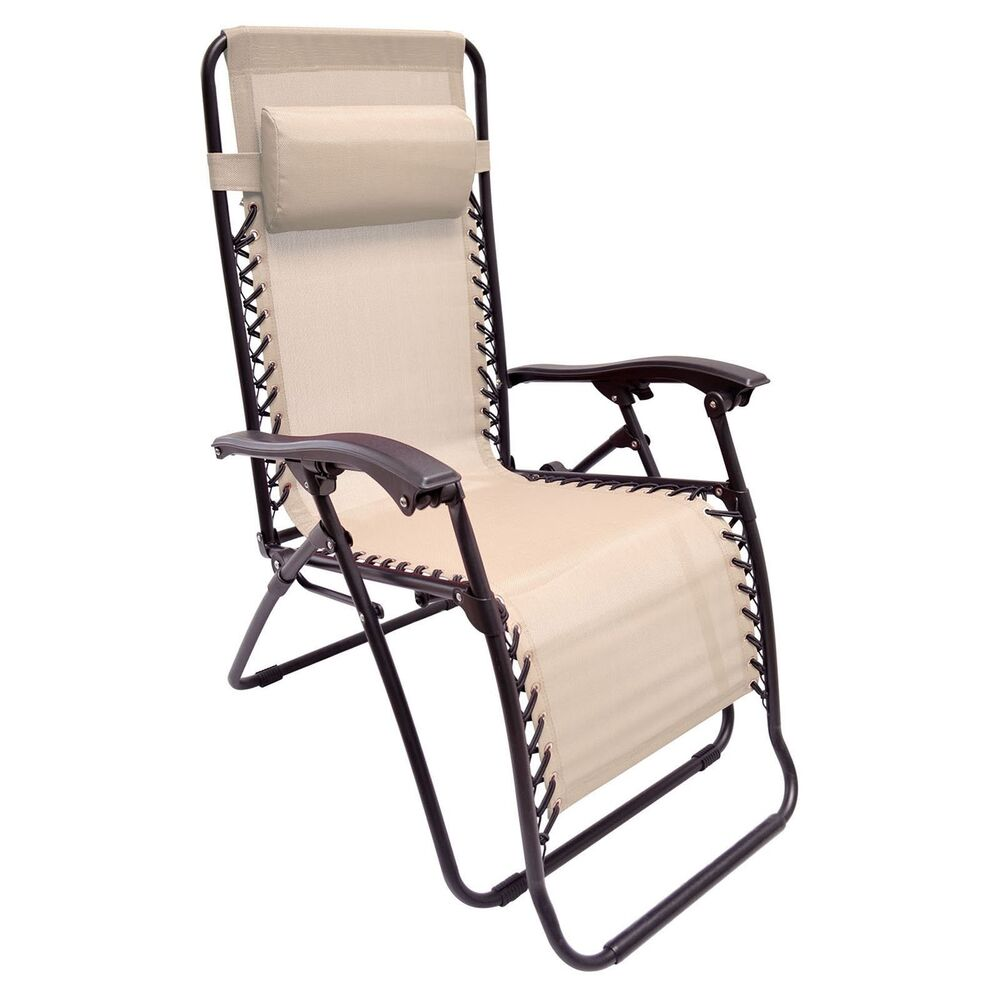 ZERO GRAVITY CHAIR TOFFEE ANTI GRAVITY CHAISE LOUNGE RECLINER BEACH PATIO DEC