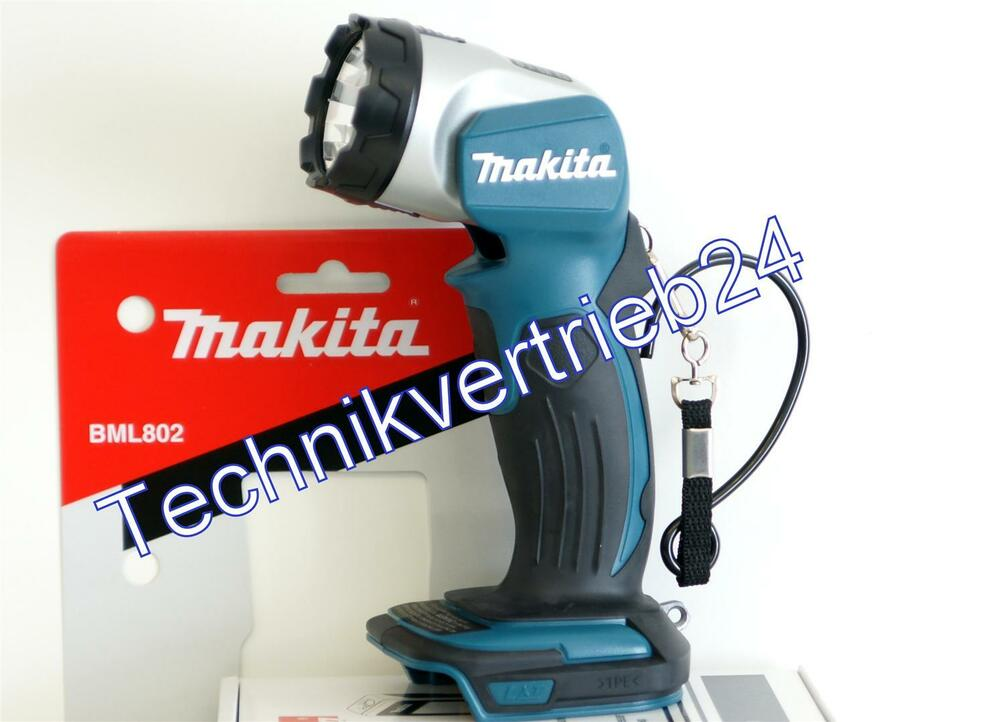 makita akku lampe bml802 led 18v passend f r lithium ionen. Black Bedroom Furniture Sets. Home Design Ideas
