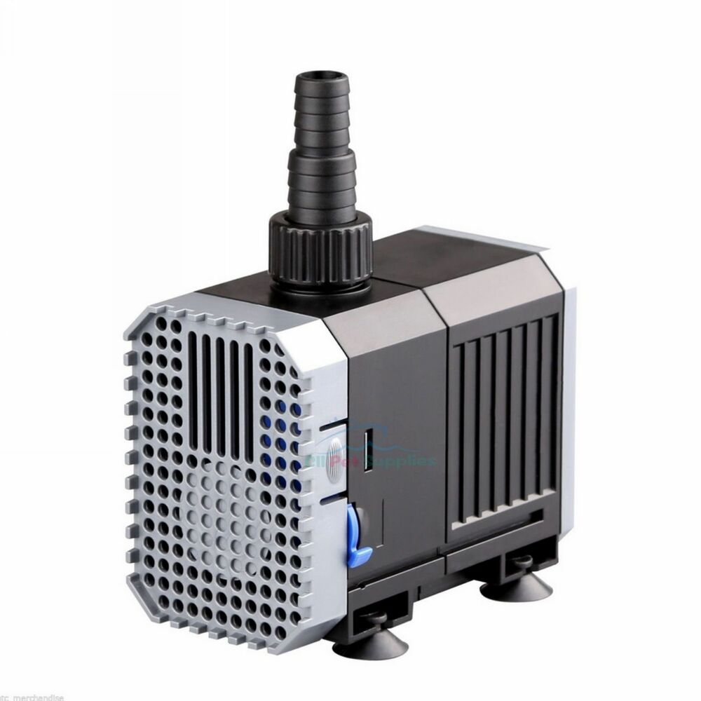 400 gph adjustable submersible pump aquarium fish tank for Fish water pump