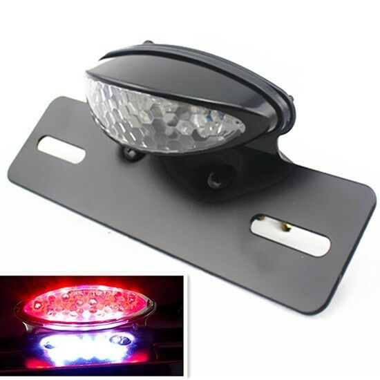 Motorcycle LED Tail Brake Light License Plate Holder Dirt ...