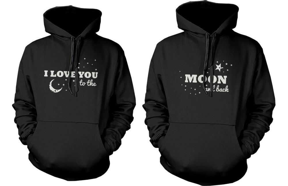 Matching Couple Hoodies - I Love You to the Moon and Back ...