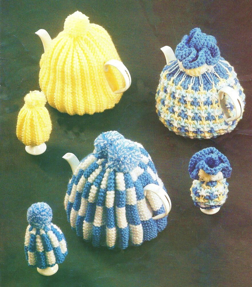 Knitting Patterns For Egg Cosies : VINTAGE KNITTING PATTERN TEA COSY & EGG COSIES DK eBay