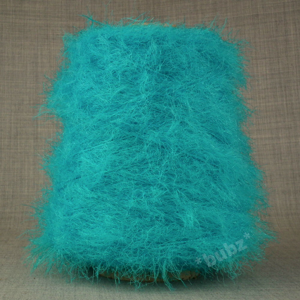 Knitting Yarn Over Twice : Soft double knitting feather yarn turquoise g cone