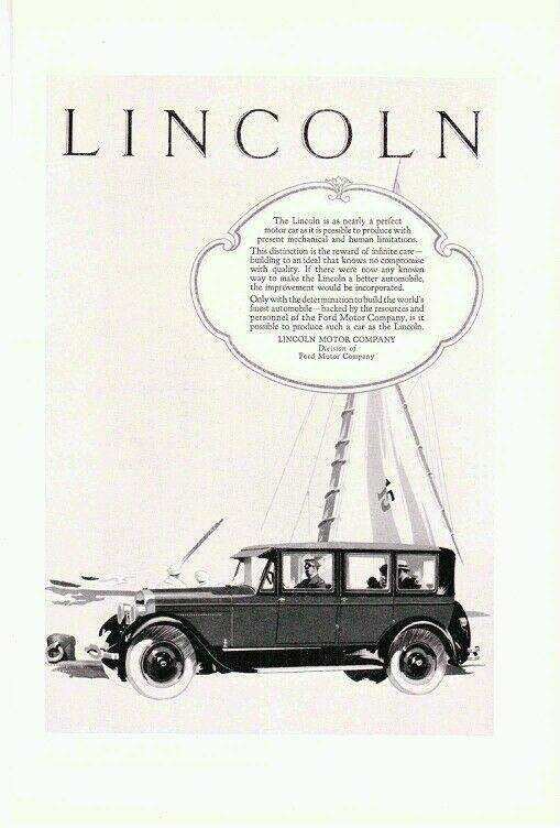 Vintage 1929 Ford Motor Company Lincoln L Series Limousine