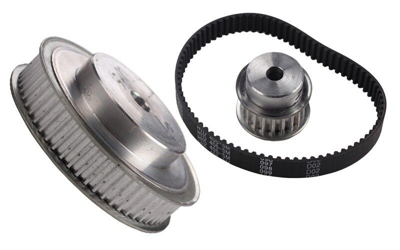 Timing Pulleys And Belts : M timing pulleys and rubber belts set reducer ratio