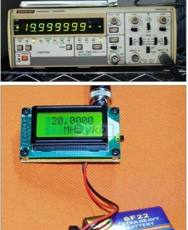 Ham Radio Frequency Counter : High accuracy rf to mhz frequency counter tester