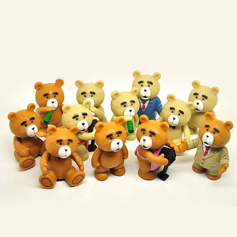 Toys For Ted : Ted teddy bear action figure figurines toy cake topper