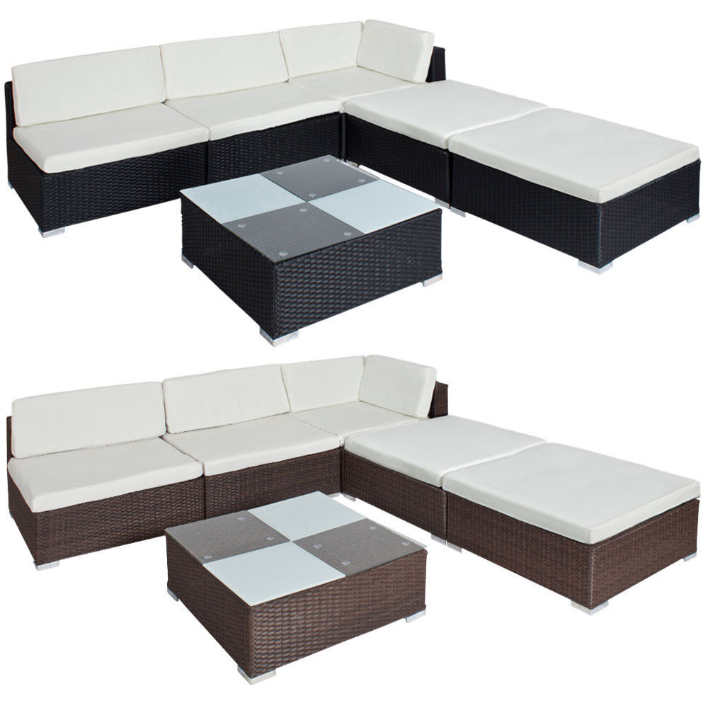 Luxury Rattan Garden Furniture Sofa Set Outdoor Wicker Black Brown Ebay