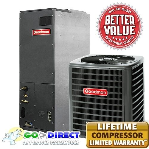 Goodman 5 Ton 16 Seer 2 Stage Heat Pump Split System