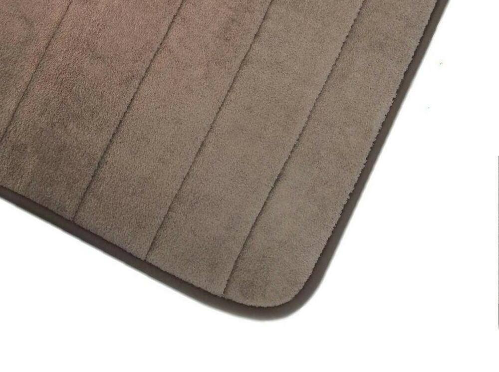 Chocolate brown memory foam anti slip comfort microplush bath rug mat 24 39 39 x17 39 39 ebay for Chocolate brown bathroom rugs