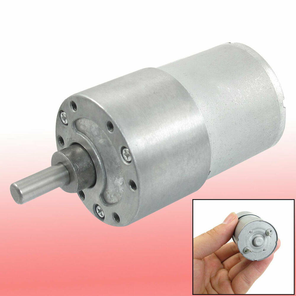 80 Rpm Dc 12v High Torque Gear Box Electric Speed Reduce