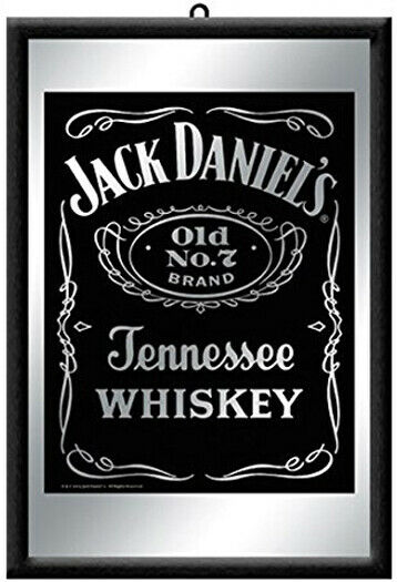 jack daniels bar mirror classic jack daniel 39 s logo. Black Bedroom Furniture Sets. Home Design Ideas