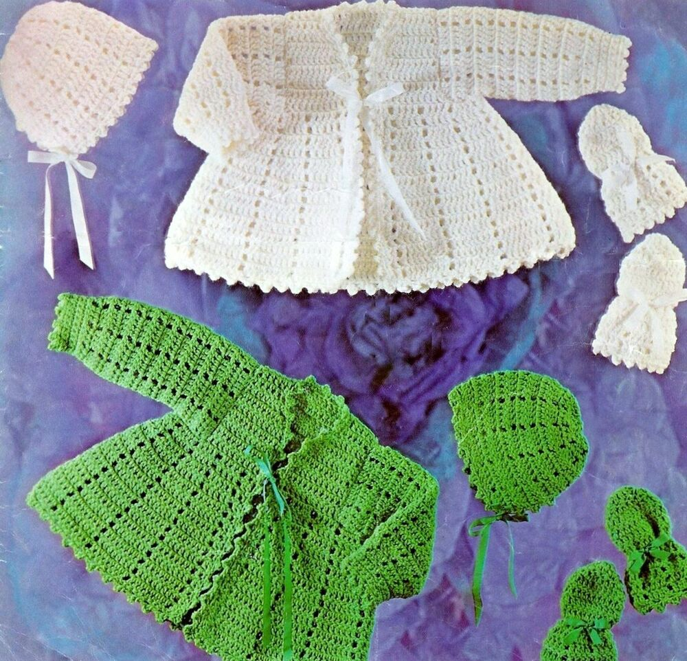 VINTAGE BABY CROCHET PATTERN TO MAKE 19