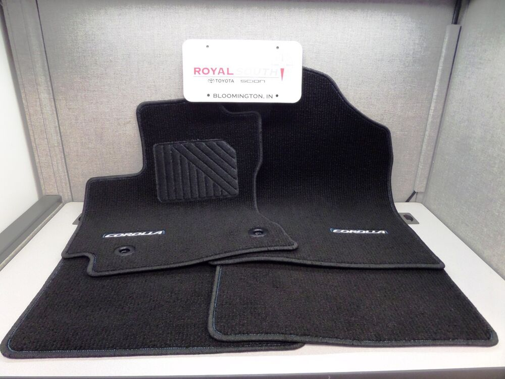 Toyota 2016 Corolla Floor Mats Blue Stitching Carpet