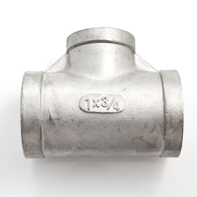 Quot x female tee threaded reducer pipe fitting ss