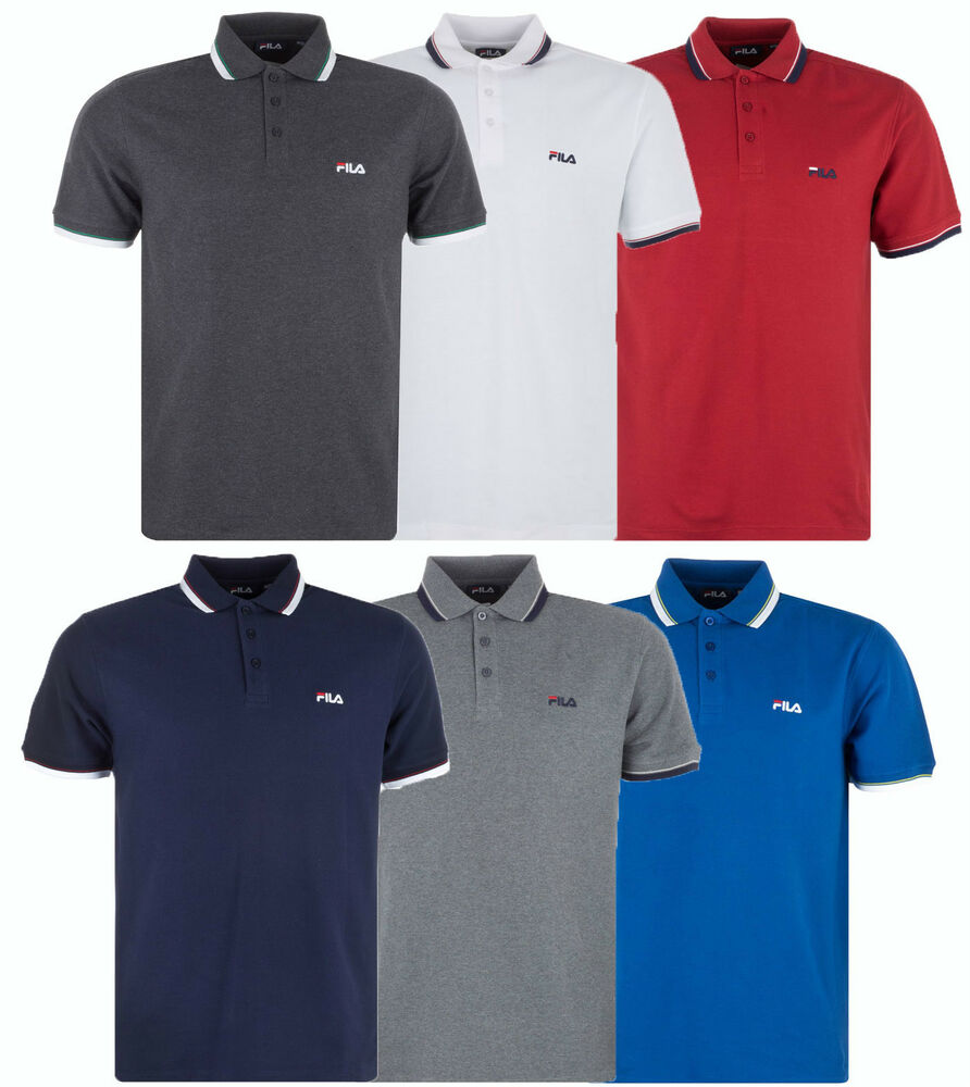 New mens fila polo shirt t shirt top retro vintage golf for Best polo t shirts for men