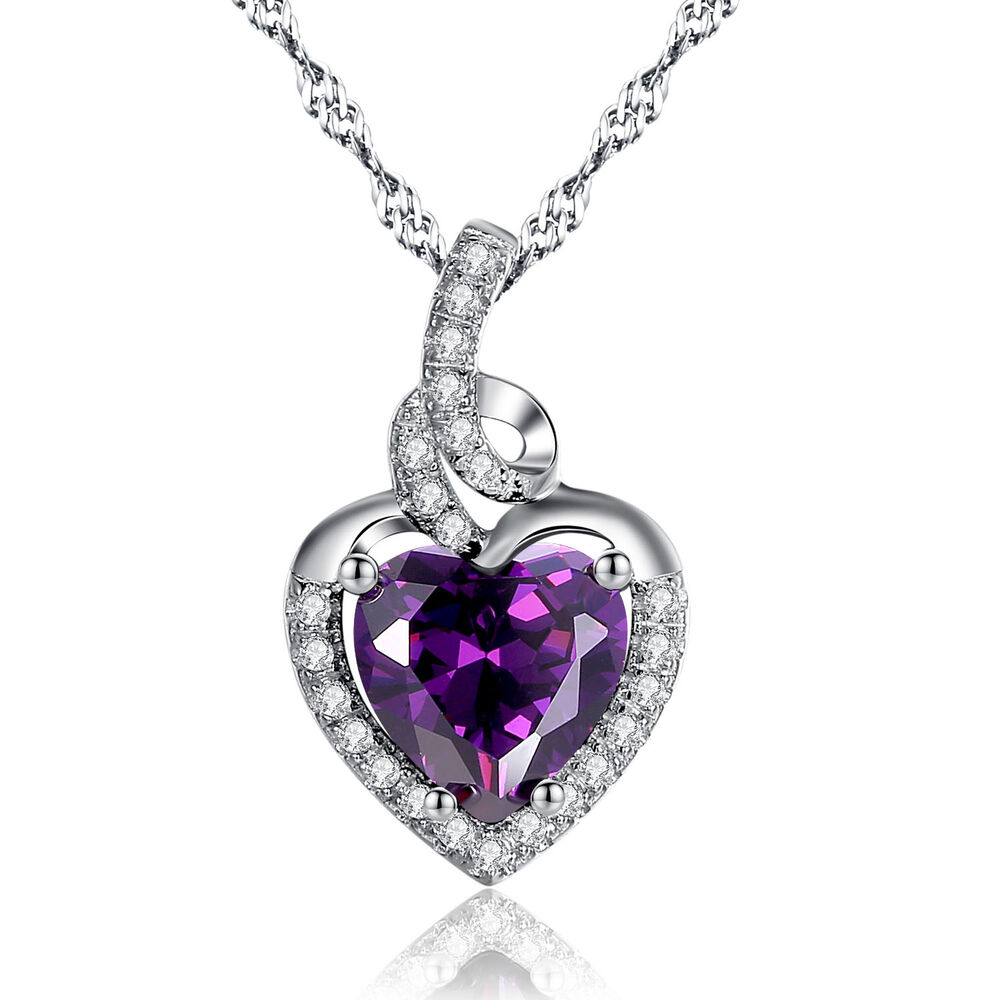 Heart amethyst necklace photo images