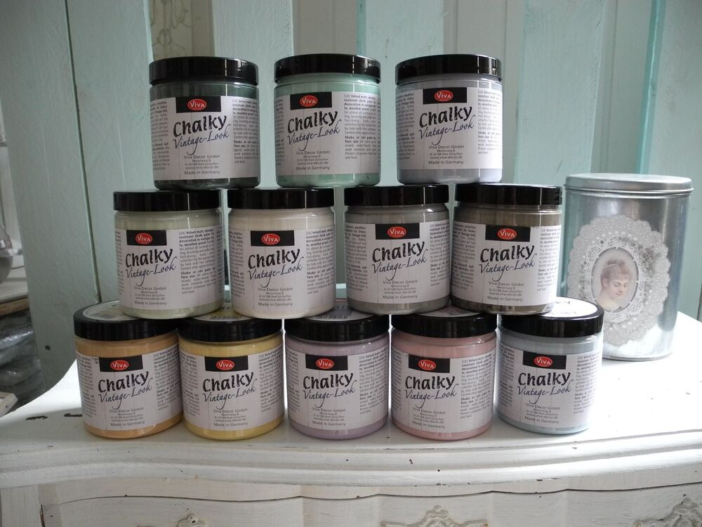 perlblau 250ml m belfarbe vintage look chalky farbe m bel shabby chic whitewash ebay. Black Bedroom Furniture Sets. Home Design Ideas