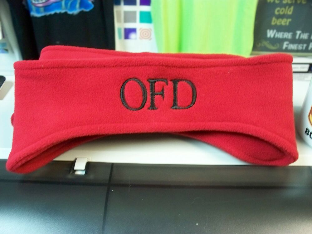 Details about Custom Embroidered Monogrammed Port Authority Stretch Fleece  Headbands e6596f82339
